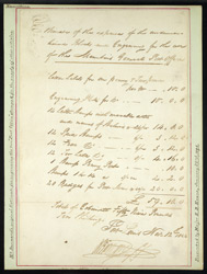 Mauritius: 1847 manuscript estimate for the production of the